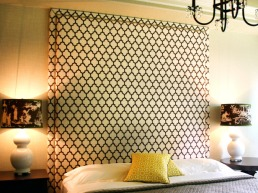 Tall headboards are not just pretty but add comfort too