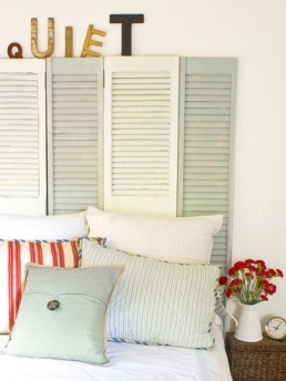 Shutters headboard - so great for paint