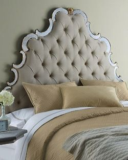 Glam decor upholstered headboard
