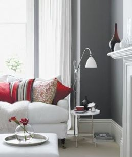 Contemporary Decor with grey and red