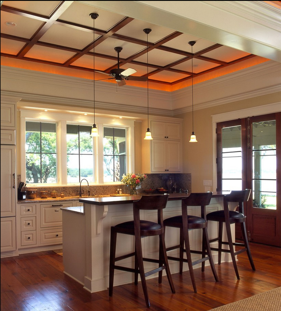 Contemporary Ceiling Design: Low Profile Contemporary Ceiling Design